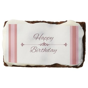 "Happy Birthday: Rectangle Brownies, 3.5"" x 2"" Brownie"