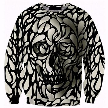 3d skull print mens sweatshirts hoodies cotton\polyester mens S-5XL