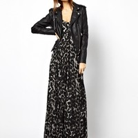 Religion Olsen Dress With Leopard Print Exclusive To Asos