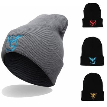 One-nice™ Perfect Embroidery Pattern Hiphop Women Men Beanies Winter Knit Hat Cap