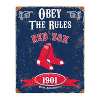 MLB Boston Red Sox Party Animal Vintage Metal Sign