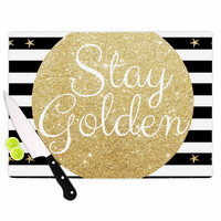 "Richard Casillas ""Stay Golden "" Black Gold Cutting Board"