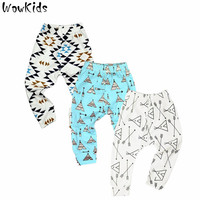 3 PCS/LOT Baby Pants Summer & Spring Fashion Cotton Infant Leggings Newborn Boy Pants Baby Girl Clothing 0-24 M Baby Trousers