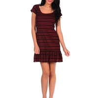 Free People Cozy Day Flounce Dress - Copper