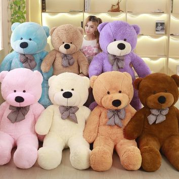 Big Sale 60cm to 200cm cheap giant unstuffed empty teddy bear bear skin toy plush Teddy Bear bearskin plush toys 7 colors