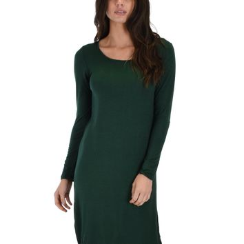 Lyss Loo Kiss The Moon Long Sleeve Olive Midi Dress