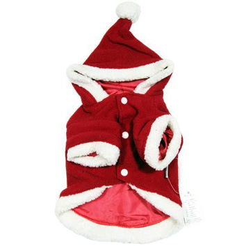 Christmas Short-Sleeved Dog Jacket with Hoodie-Size 20