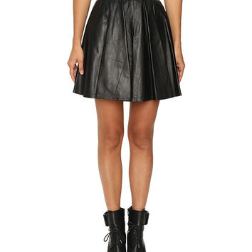 Jeremy Scott Leather Circle Skirt