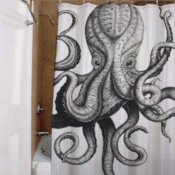 octopus, special custom, shower curtains, available size, amazing gift