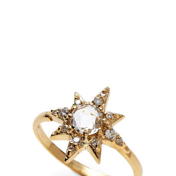 14K Gold Star Ring