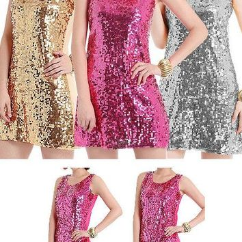 Sequin Shift Dress - 3 Colors