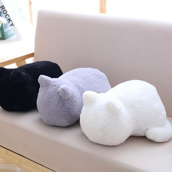 1pc 33cm 3 Colors Soft Stuffed Pillow Plush Shadow Cat Kawaii Plush Toy 2017 New Classical Design Best Gift For Kid