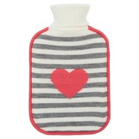 Hot Water Bottle - Grey & Pink