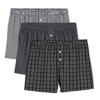 3-pack Woven Boxer Shorts - Black/Checked - | H&M US