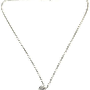 Alloy Pendant Barbell Shape Necklace