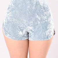 Everything I Need And More Shorts - Light Blue