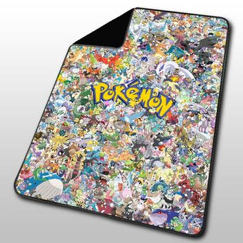 Pokemon all Character Blanket, Fleece Blanket, Throw Blanket, Blankets