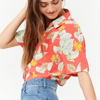 Tropical Print Pocket Shirt