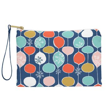 Heather Dutton Snowflake Holiday Bobble Chill Navy Pouch