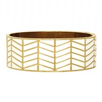 House of Harlow 1960 Jewelry Enameled River Cuff White
