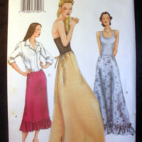 Vogue Women's Skirt Misses' Size 14,16,18 Vogue 7260 Sewing Pattern Uncut
