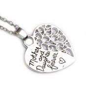 Stylish New Arrival Shiny Jewelry Gift Hot Sale Heart Hollow Out Alphabet Pendant Necklace [8026271303]
