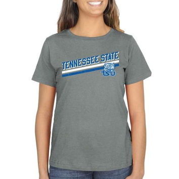 Tennessee State Tigers Ladies Rising Bar Classic Fit T-Shirt - Ash