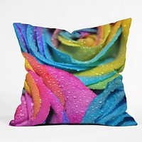 Lisa Argyropoulos Rainbow Swirl Throw Pillow