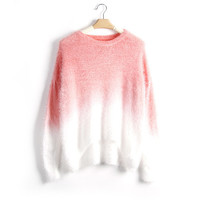Ombre Drop Shoulder Sweater