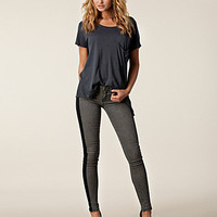 Venedig Jeggings, Sort Denim