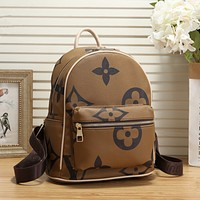 LV Louis Vuitton Fashion Daypack School Bag Leather Backpack