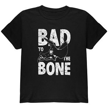 Dinosaur Triceratops Bad to the Bone Youth T Shirt