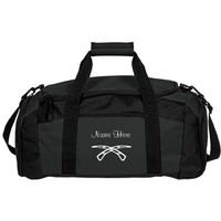 Color Guard Airblades: Custom Port & Company Gym Duffel Bag - Customized Girl