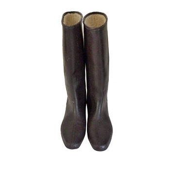 Women Rain Boot Waterproof Boot Women Rainboot Galoshes Women Rubber Boot Brown Boot Galoshes Rubber Galoshes Wellies Brown Boot Size 8