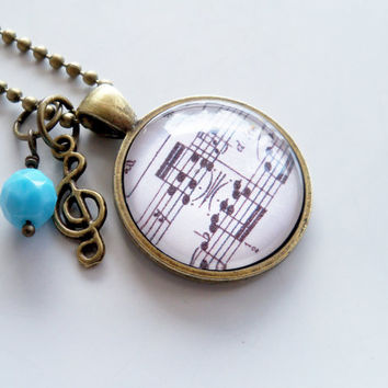 Für Elise Pendant - Music Necklace - Beethoven - Sheet Music Jewelry - Custom Necklace - Music Lover Gift - Classical Music - Piano Teacher