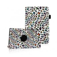 Fintie Leopard 360 Rotating Leather Stand Case Cover with Automatic Sleep/Wake Feature for Google Asus Nexus 7-Inch Android Tablet