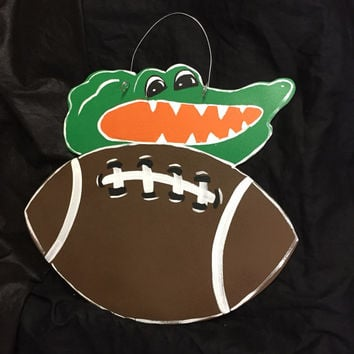 Gators - Florida - Florida Gators - Gators door hanger - Football door hanger - Sports decor - © Jack Jack's Wayart