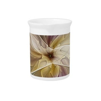 Floral Fantasy Pattern Abstract Fractal Art Beverage Pitchers