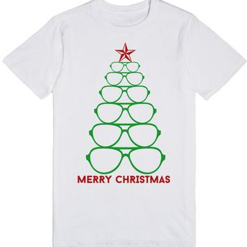 MERRY HCRISTMAS NERDY GLASSES