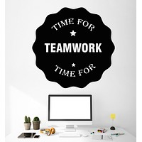 Vinyl Wall Decal Time For TeamWork Motivational Words Job Work Stickers Unique Gift (1216ig)