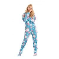 Cup Cakes Adult Footed Onesuit Pajamas