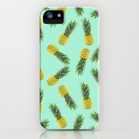blue pineapple pattern iPhone & iPod Case by Hannah | Society6