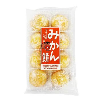 Orange Daifuku Mochi Rice Cake by Kubota, 7 oz (200 g)