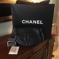 Chanel Classic Flap Bag -- Leather Quilted with Chain Strap