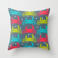 Crabs pillow cover- Decorative throw pillow cover - Colorful pillow cover - Nautical pillow cover - Designer pillow -Modern pillow cover
