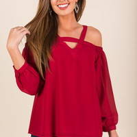 Easy Romance Blouse, Ruby