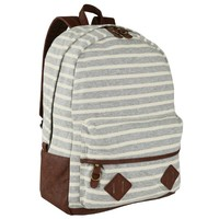 J. Carrot Nautical Stripe Backpack - Grey
