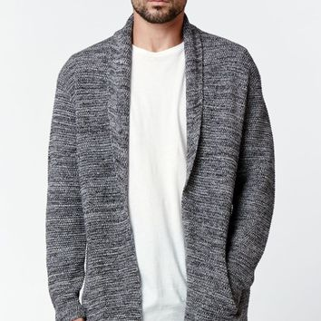 On The Byas Eddie Shawl Collar Cardigan - Mens Sweater - Black
