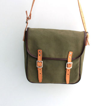 Vintage canvas messenger bag 90s
