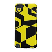 Retro Black and Yellow Abstract iPod Touch (5th Generation) Case